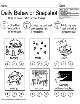 Special Education Daily Communication Home Notes with Data