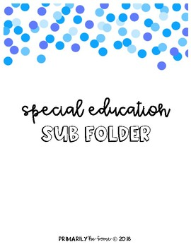 Special Education Sub Folder
