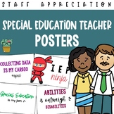 Special Education Teacher Appreciation Posters
