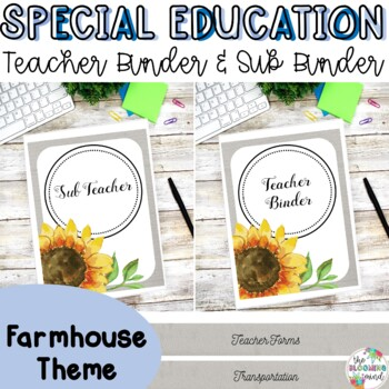 Special Education Teacher Binder Bundle {Farmhouse Cover and Spines}