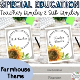 Special Education Teacher Binder Bundle {Farmhouse}