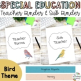 Special Education Teacher Binder Bundle {Birds}