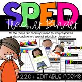 Special Education Teacher Binder-Editable