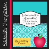 Special Education Teacher Binder Editable {Templates, Data