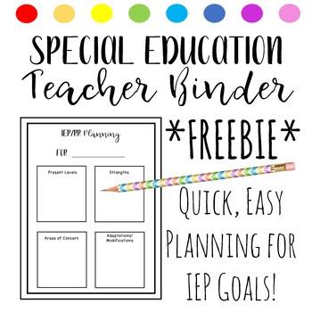 Free IEP Planning Worksheet