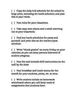 Special Education Teacher Checklist to Organize the Start of Your School Year