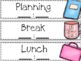 Special Education Teacher & Para Schedule Cards (Editable!)