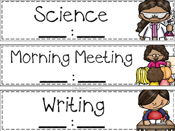 Special Education Teacher & Para Schedule Cards (Editable!)