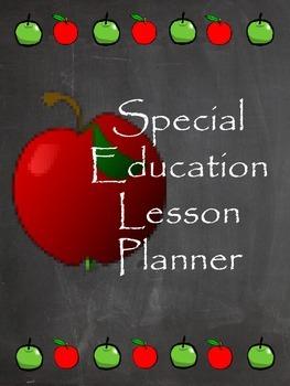 Customizable Special Education Teacher Planner