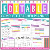 Editable & Customizable Teacher Planner | Easy Editing l Edit Colors & All