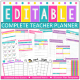 Editable & Customizable Teacher Planner | Easy Editing l E