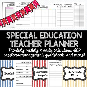 Special Education Teacher Planner for ANY YEAR! Caseload Management and more!