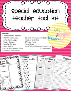 Special Education Teacher Tool Kit