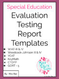 Special Education Academic Report Template * Editable * WI