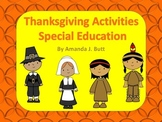Special Education Thanksgiving Activities - Autism; Visually Impaired; Sensory