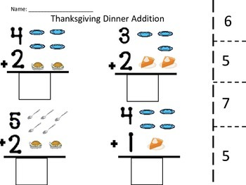 Special Education Thanksgiving Packet