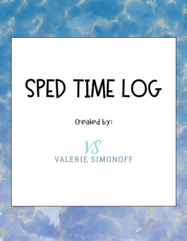 Special Education Time Log (Editable)