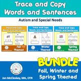 Special Education Sentences Bundle for Handwriting