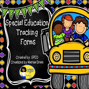 Special Education Tracking Forms
