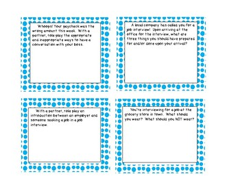 Special Education Transition/Employment Task Cards