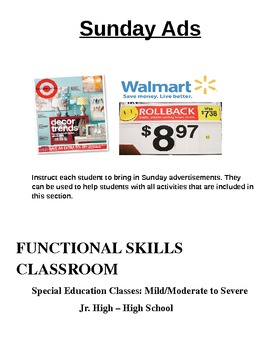Special Education: Using Sunday Ads