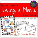"#spedprep3 Special Education ""Using a Menu"" Diner Restaura"