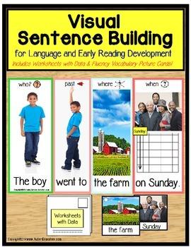 Special Education VISUAL SENTENCE BUILDING BUNDLE for Autism