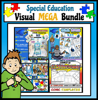 Special Education Visual MEGA Bundle! Cards, Posters, Forms, Clip-Art, and MORE!