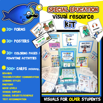 Special Education Visual Resource Kit!130 Ct. Posters, Cards, Activities & More!