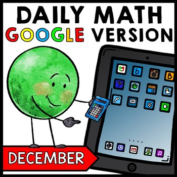 Special Education - Warm Ups - GOOGLE - Christmas - Word Problems - Daily Math