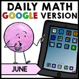 Special Education - Warm Ups - GOOGLE - Summer - Word Problems - Math - June