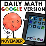 Special Education - Warm Ups - GOOGLE - Thanksgiving - Word Problems - Math
