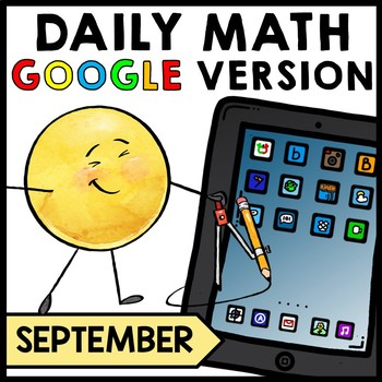 Special Education - Warm Ups - GOOGLE - Word Problems - Daily Math - September