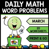 Special Education - Warm Ups - St. Patrick's Day - Word Problems - Daily Math