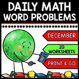 Special Education - Warm Ups - Christmas - Word Problems - Daily Math
