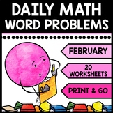 Special Education - Warm Ups - Valentine's Day - Word Problems - Daily Math