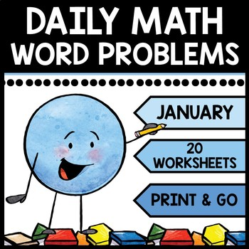 Special Education - Warm Ups - Word Problems - Daily Math - January - Winter