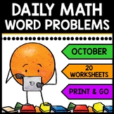 Special Education - Halloween - Warm Ups - Word Problems - Daily Math