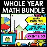 Special Education - Warm Ups - Word Problems - Daily Math - YEAR LONG BUNDLE
