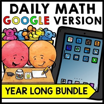 Special Education - Warm Ups - Word Problems - GOOGLE - Math - YEAR LONG BUNDLE