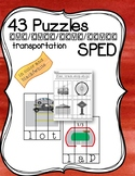 Special Education Word Puzzles for Centers CVC Transportat