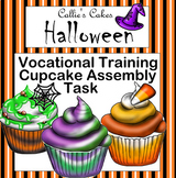 Special Education Work Box Halloween Cupcake Assembly Task