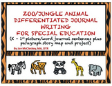 Special Education Writing:  Zoo Animal Themed Sentences an