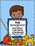 Special Education Writing for Fall