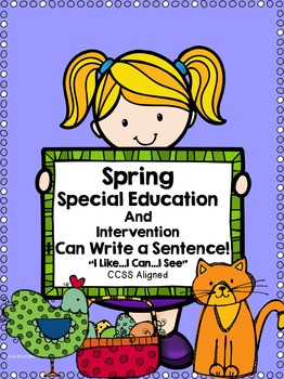 Special Education Writing for Spring