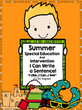 Special Education Writing for Summer