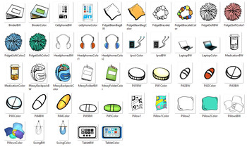Special Education and  Counseling Objects Clip-Art! 40 pcs.