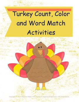 Special Education and Early Education Thanksgiving Theme Bundle