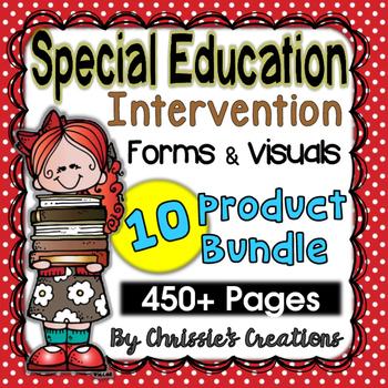 Special Education: Intervention data forms: Behavior Visua