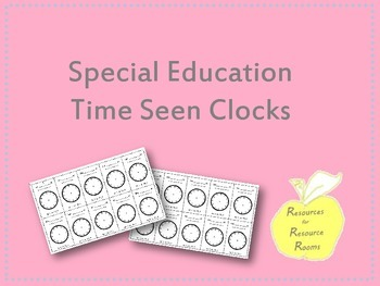 Special Education and Related Services Clocks